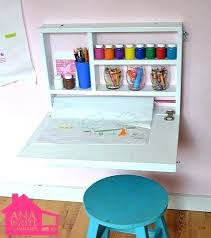 Craft Desk With Storage Craft Table With Paper Roll Fold Down Art Desk With Storage Craft