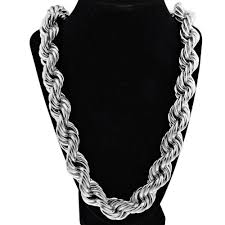 black rope chain necklace images 20mm 36 quot silver tone rope chain rope chains png