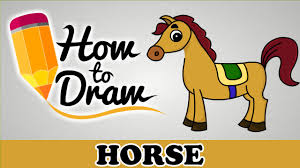 how to draw a horse easy step by step cartoon art drawing lesson
