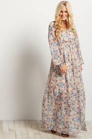 chiffon maxi dress navy blue floral chiffon sleeve v neck maternity maxi dress