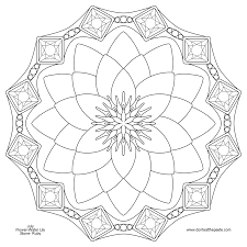 waterlily and ruby mandala for july transparent png version