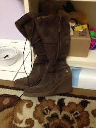 s ugg lace up boots uggs lace up brown wedge boots 7 collection on ebay