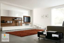 spacious living room living room design with wall mounted tv rift decorators