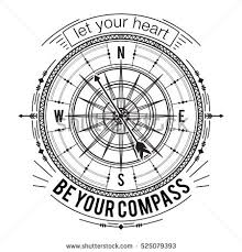 typography poster vintage compass stock vector