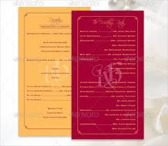 Printable Wedding Programs Free 17 Wedding Program Template Free U0026 Premium Templates