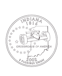 coloring pages quarter usa printables indiana state quarter us states coloring pages