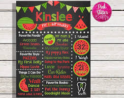 watermelon birthday etsy
