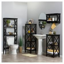 Over The Toilet Etagere X Frame Over Toilet Space Saver étagère Espresso Riverridge Target