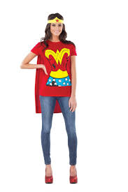 Halloween Looks For Women Wonder Woman T Shirt T Shirt Headband And Cape Superhero T