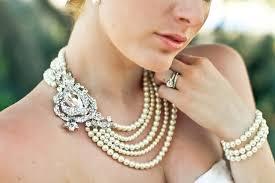 necklace etsy images Statement wedding jewelry bridal necklace etsy handmade 5 jpg