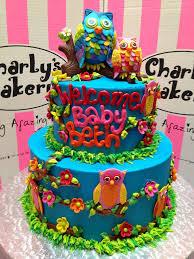 2 tier owl themed wicked chocolate baby shower cake decora u2026 flickr