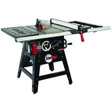 sawstop professional cabinet saw 1 75 hp sawstop contractor saw with 30 aluminum extrusion fence system