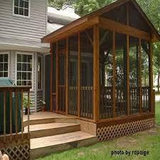 screen room porch kit for wooden deck porch design enclose your