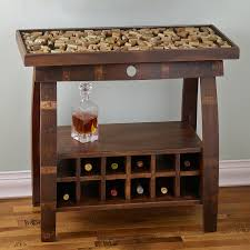reclaimed barrel stave console table wine enthusiast
