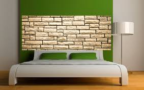 deco mur pierre papier peint tête de lit mur de pierre art déco stickers