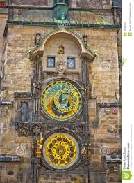 Unique Clock by Unique Clock On Gothic Tower In Prague Stock Photos Image 26720043