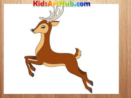 deer drawings for kids hqdefaultjpg coloring pages maxvision