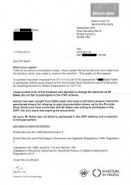 dwp letter proves you can u0027t be sanctioned just for refusing to