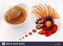 cuisine creme brulee dessert tonka bean crème brûlée decorated with fruit haute cuisine