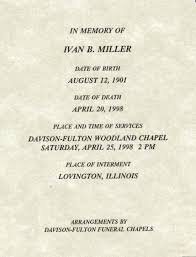 Burial Invitation Card Moultrie Obituaries G To R