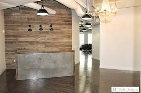 Industrial Style Reception Desk Modern Office Reception Design Daly Designs Jane Office Project