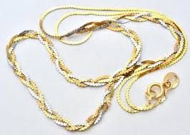 braided necklace images Vintage 14k tri gold braided necklace 16 quot the jewelry lady 39 s store JPG