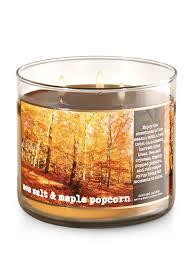 sea salt u0026 maple popcorn 3 wick candle bath u0026 body works