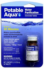 amazon com potable aqua water purification tablets 50 tablets