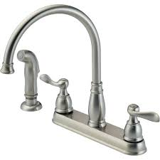 delta kitchen faucet handle delta windemere traditional 2 handle kitchen faucet faucets