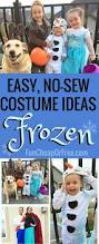 diy frozen costume no sew halloween costumes for the whole family