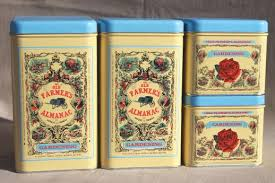 metal kitchen canisters the farmer s almanac metal canisters garden or kitchen