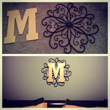 metal decorative letters home decor metal wall hanging from hobby lobby spray paint initial letter