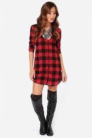 bb dakota suzett shirt dress shift dress plaid dress