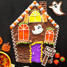 Halloween Haunted House Cake Brownie Haunted House Recipe Taste Of Home
