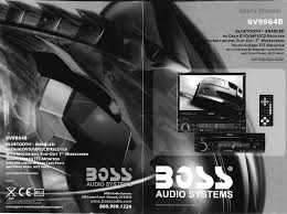 boss audio systems car stereo system bv9964b pdf user u0027s manual