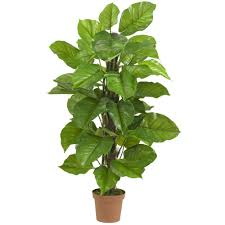 silk plants nearly real touch 52 in h green large leaf philodendron