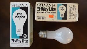 100 200 300 light bulb old sylvania 1 2 300watt frosted 3way light bulb youtube