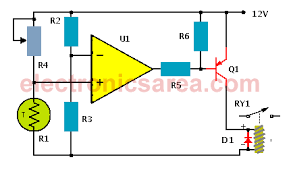 temperature alarm circuit with op amp electronics area