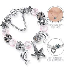 pandora style silver charm bracelet images Aloha hawaii silver pandora style bracelet combo set with 17 jpg