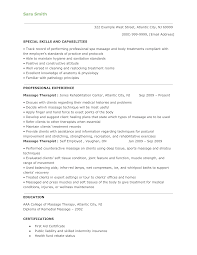 Physical Therapist Resume Examples by Resume Massage Therapist Resume Examples