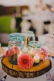 table centerpieces with candles simple ways to decorate with blue tinted mason jars