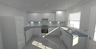white and grey kitchen modern welford high gloss white and pewter pebblestone grey