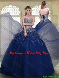 quinceanera dresses 2016 gorgeous gown strapless quinceanera gowns in navy blue for