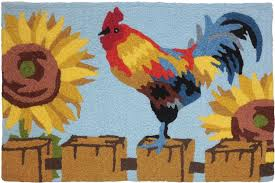 Sunflower Rugs Wholesaler For Gift Novelty And Indoor Outdoor Rugs On The Fence