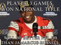 Ohio State Football Memes - cardale jones nfl qb future meme sports unbiased