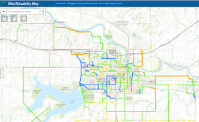 Map Of Ks Bicycle Rideability Map City Of Lawrence Kansas
