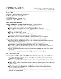 best criminal justice resume collection from professionals student