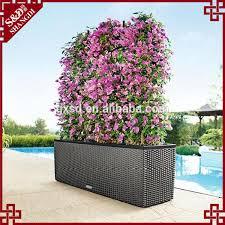 high quality resin wicker outdoor rectangular planter box flower