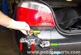 car light bulb replacement bmw e60 5 series tail light replacement 2003 2010 pelican parts