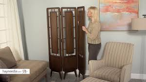 belham living carter mid century modern 3 panel room divider